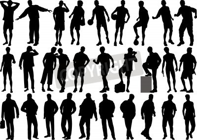 10 Human Figure Silhouette Vector Images