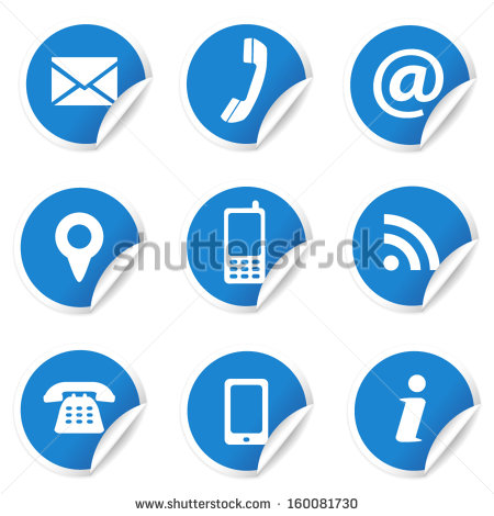 9 Contact Us Icon Set Images