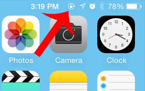 iPhone 5 Symbols On Top of Screen