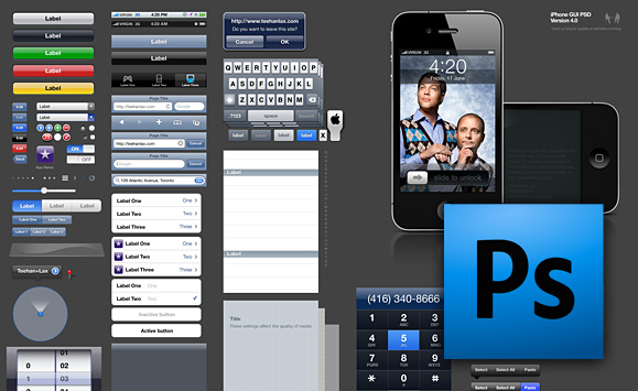 14 IPhone GUI PSD Design Template Images