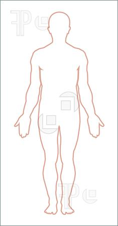 Male Human Body Outline Clip Art