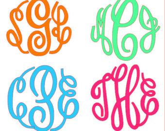 13 Monogram Master Circle Font Download Images Fancy