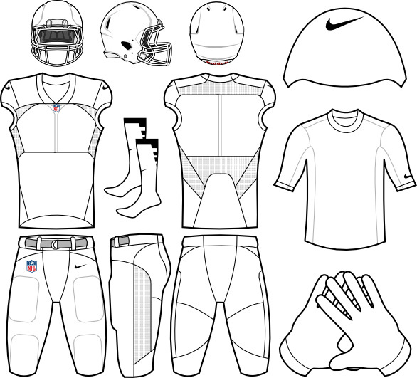 13 Nike Football Uniform Template PSD Images