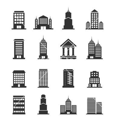 9 Office Building Vector Images