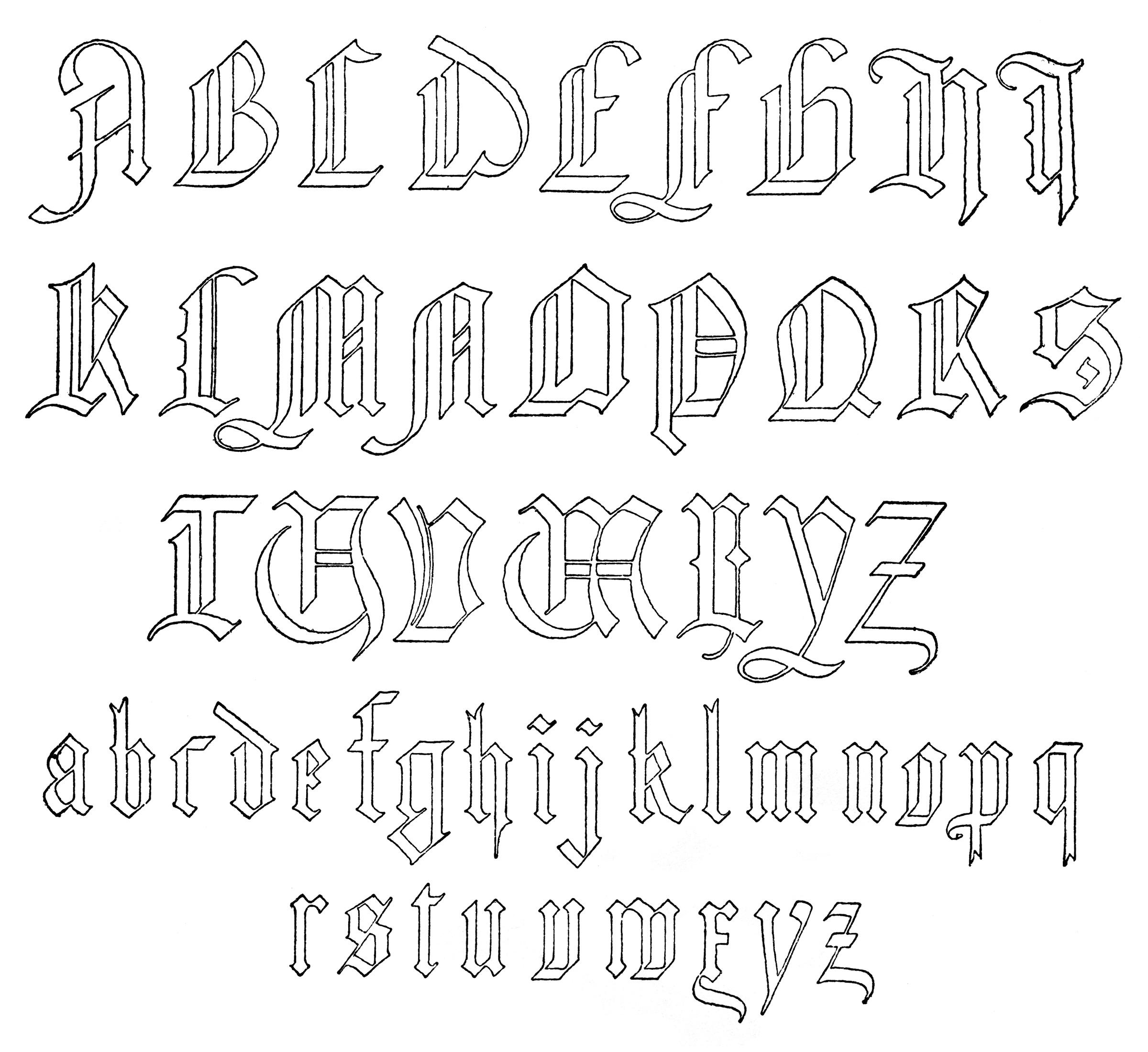 6 Old German Font Images