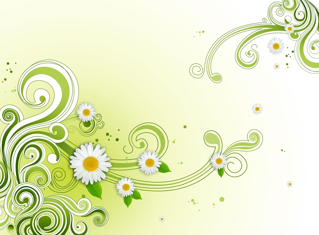 Photoshop Green Flower Wallpaper