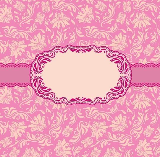 14 Pink Vintage Border Vector Images