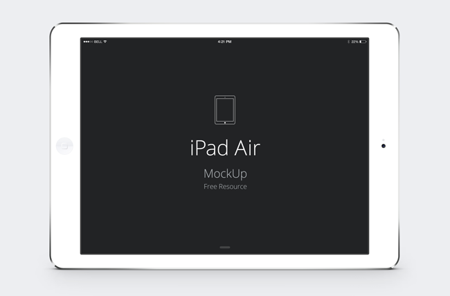 13 Horizontal White IPad PSD Mockup Images