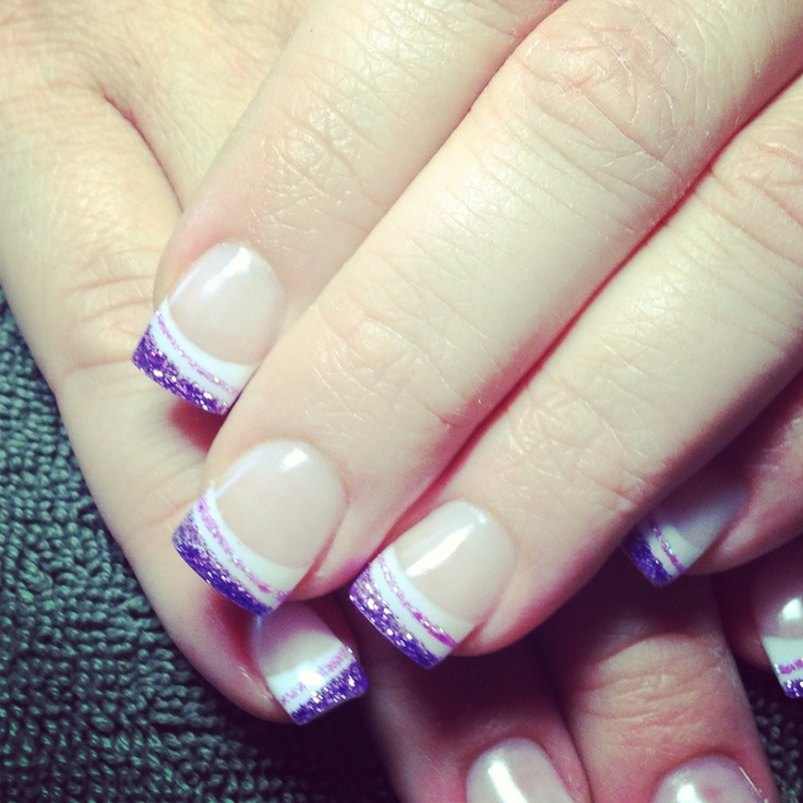 13 Purple French Tip Nail Designs Images