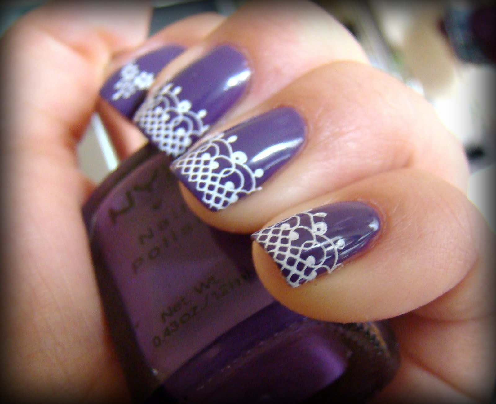 15 Cute Purple Easy Nail Designs Images