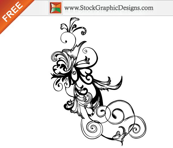 Simple Floral Swirl Designs