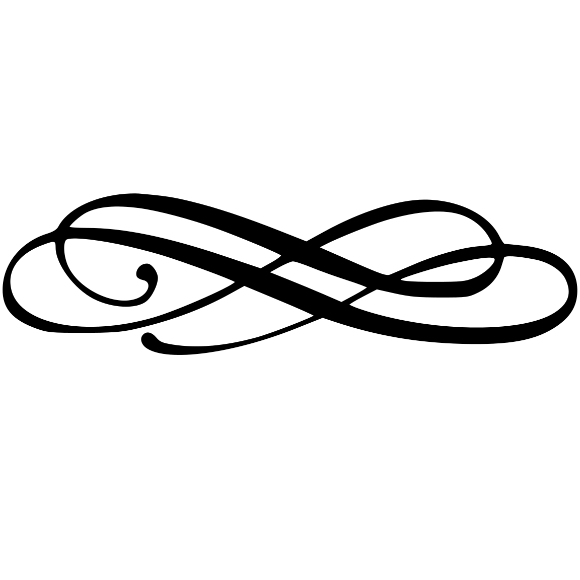 Simple Swirl Line Clipart : Simple flourish vector images free corner