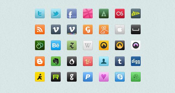 Social Media Icons 32X32