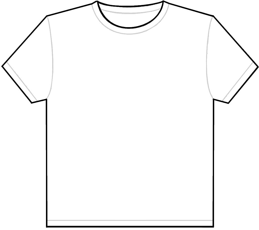 Black t shirt vector free - Black T Shirt Vector Ai T Shirt Outline Template