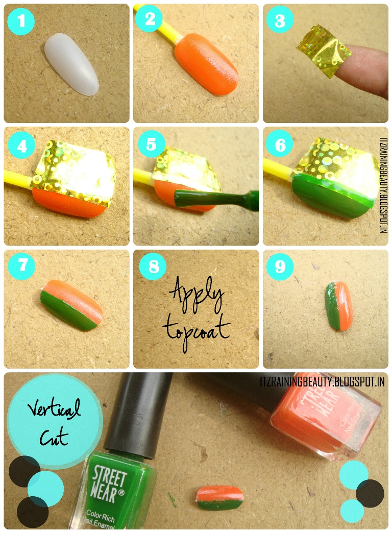 Diy Nail Art Designs By Using Scotch Tape Manicure Tips Diy Nail