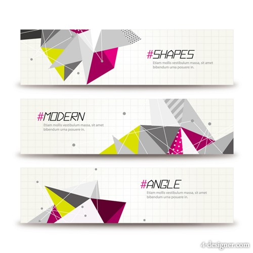 Triangle Banner Vector