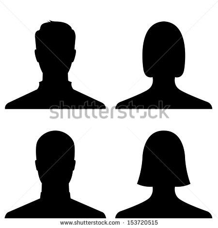 Vector Man and Woman Profiles