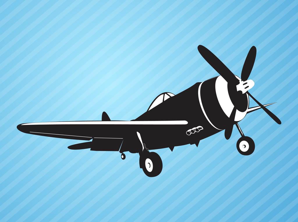 16 Vintage Plane Vector Images