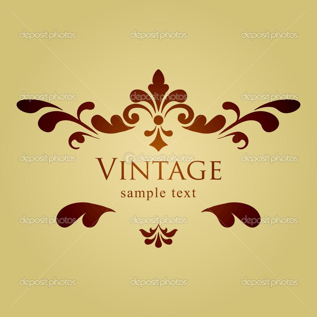 Vintage Floral Frame Vector Free