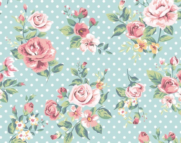 Vintage Flower Patterns Rose