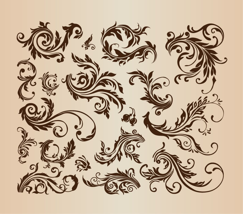 Vintage Swirl Vector