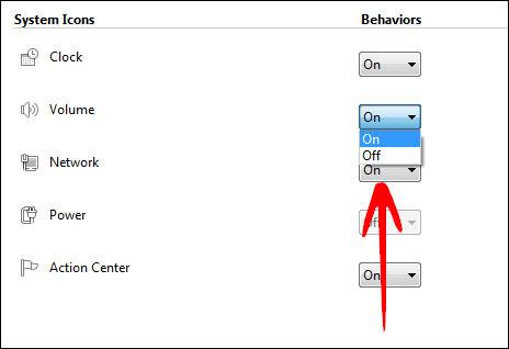 Volume Icon Missing Windows 7
