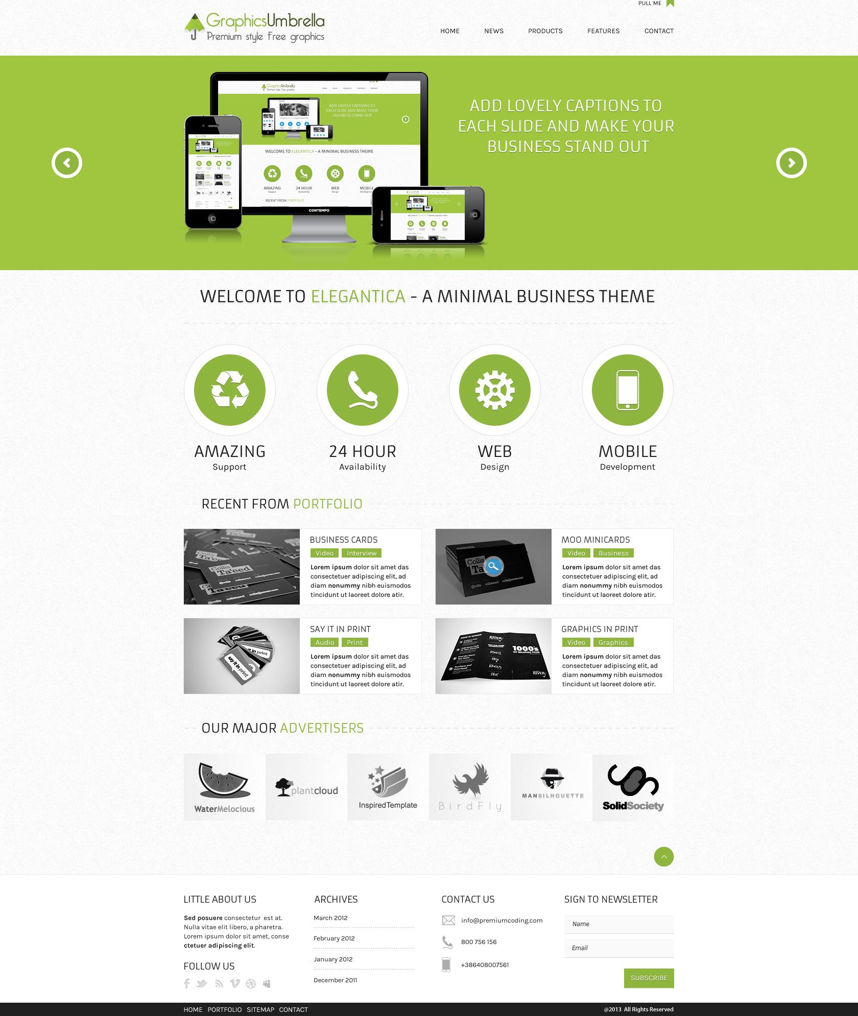 Website Design Templates PSD Free Download