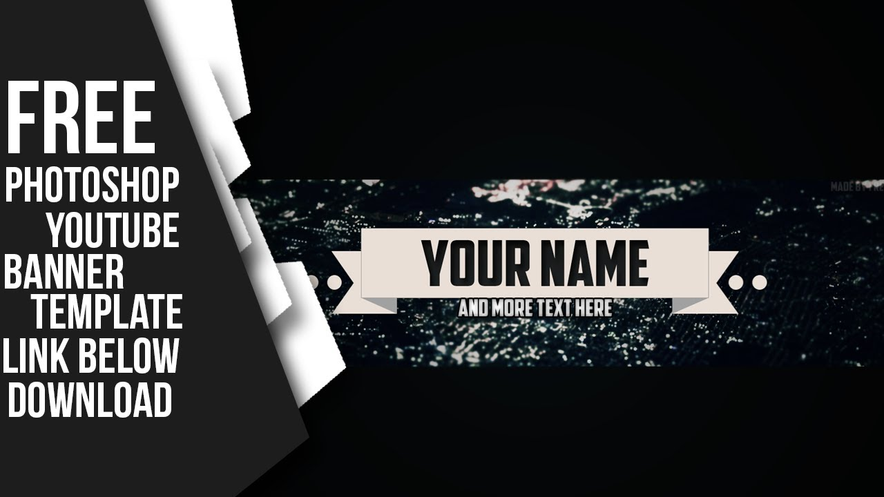 14 youtube banner psd customizable images youtube banner template