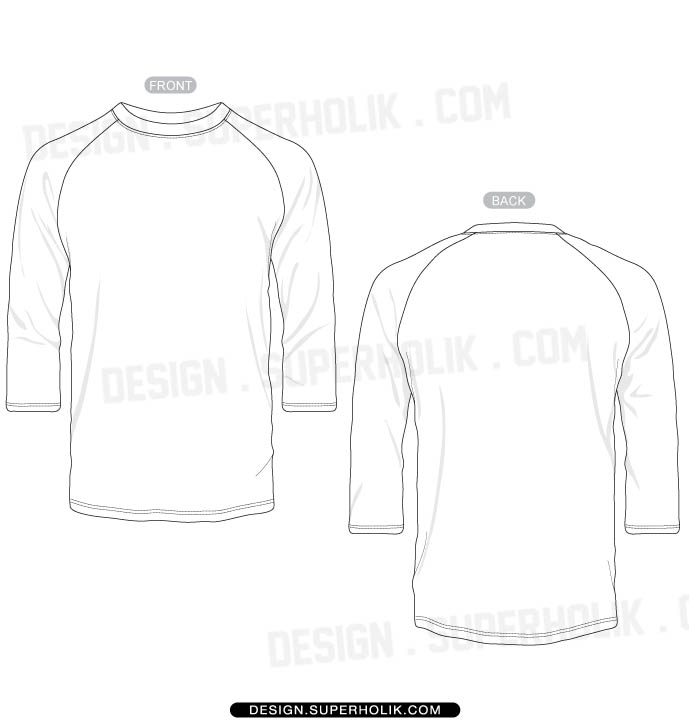 3 4 Sleeve Shirt Template
