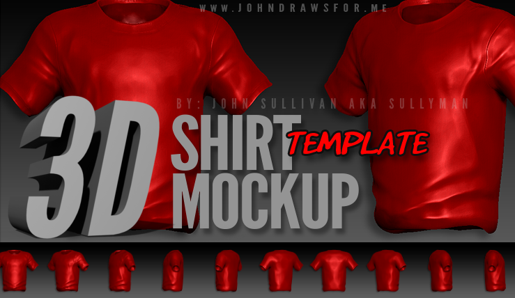 3D T-Shirt Template Mockup Photoshop
