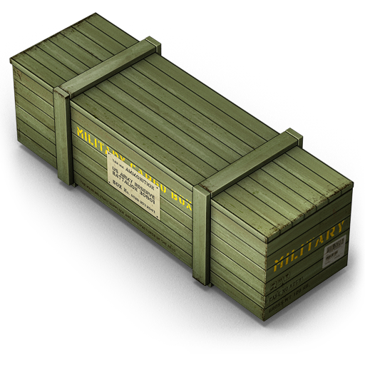 Army Shipping Box Icon