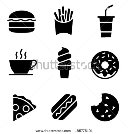 Black and White Fast Food Logos