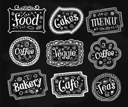 Black and White Food Labels