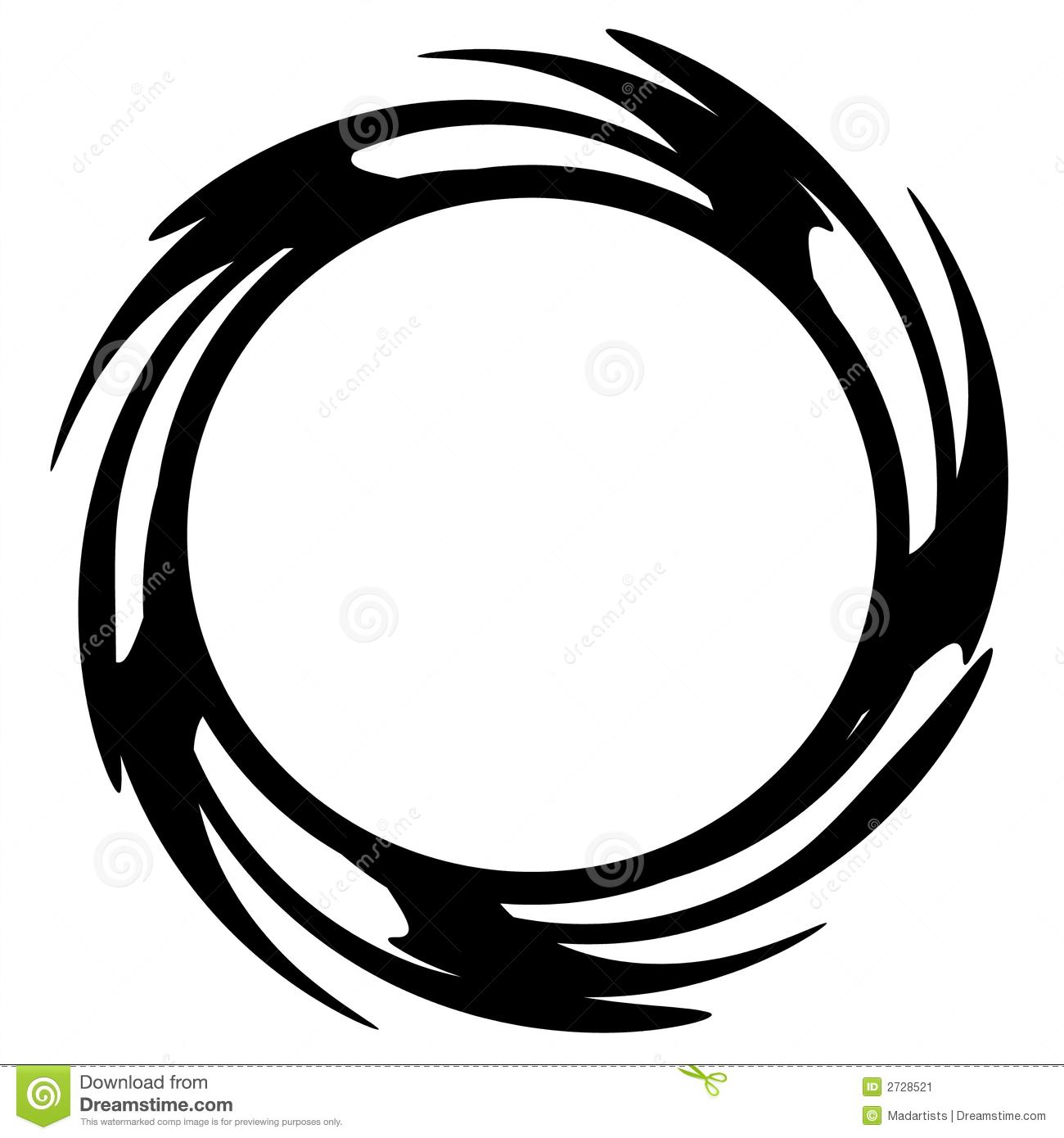 Black Circle Logo with White Ring