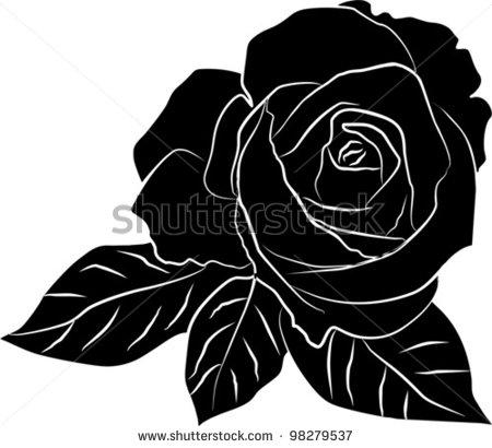 14 Black Rose On White Background Vector Art Images