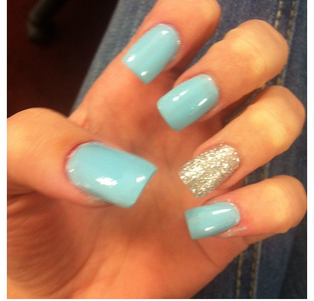 13 Blue Nail Designs For Prom Images Blue And Silver Prom Nail