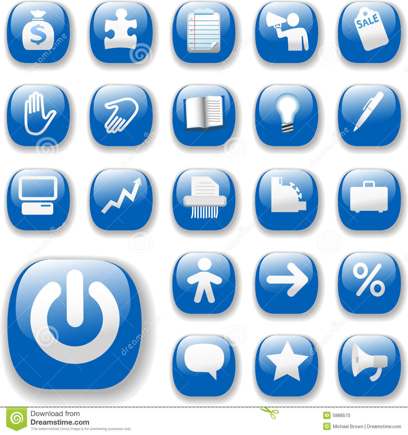 10 Web Navigation Icon Sets Blue Images - Blue Business ...