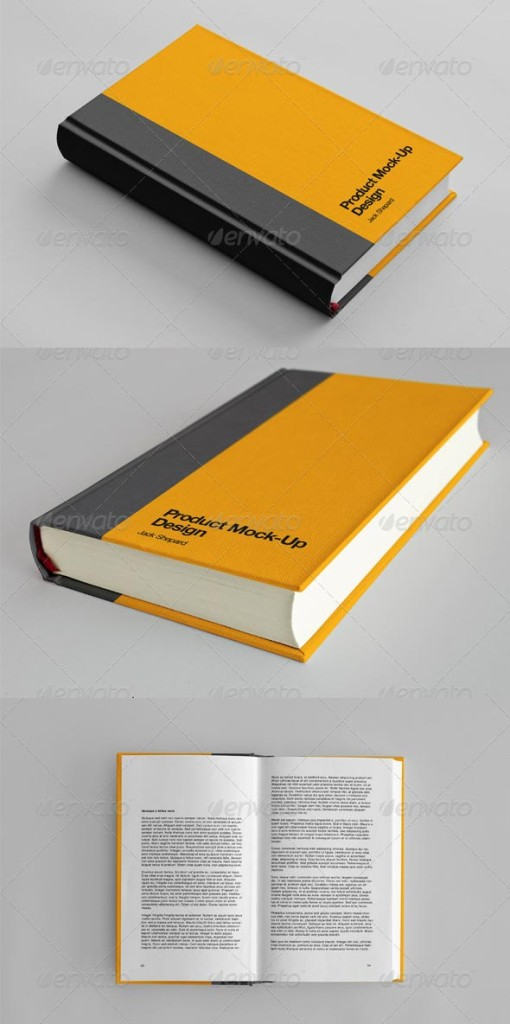 13 Free Book Cover Mock Up Psd Images