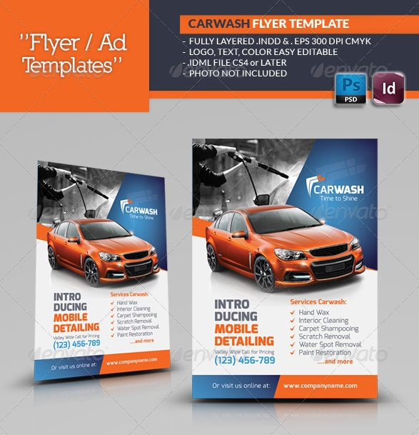 Nice Car Wash Flyer Template  Car Flyer Template