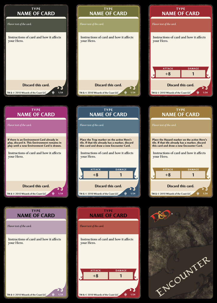 Card Game Board Templates Word