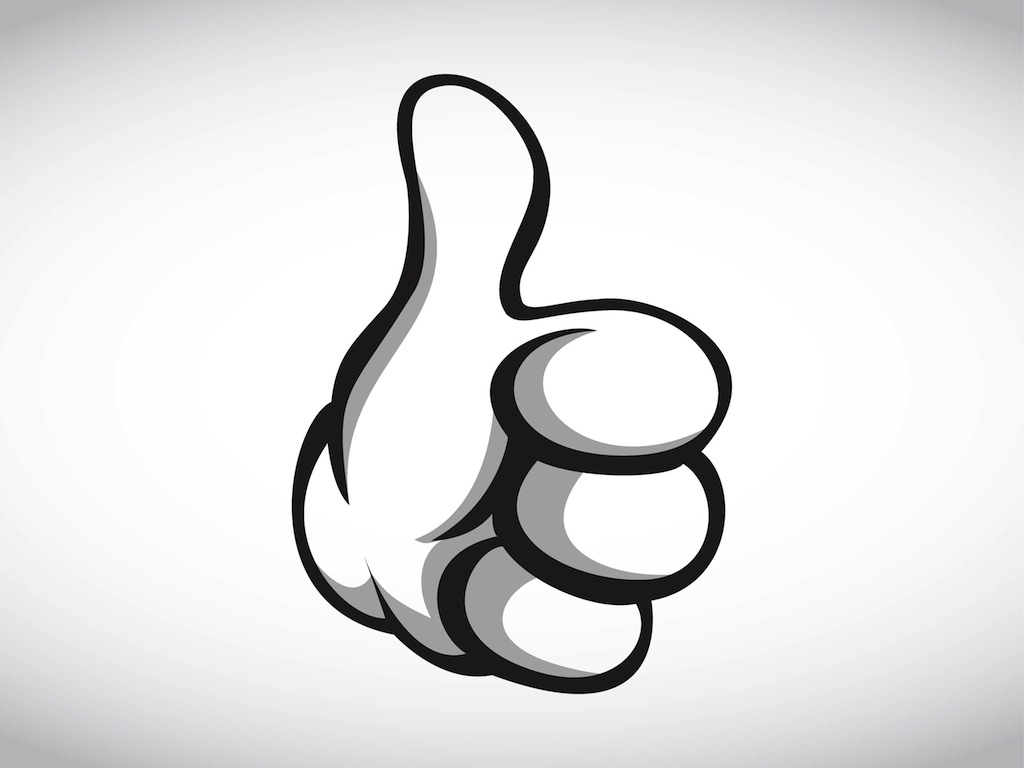 Cartoon Hand Thumbs Up
