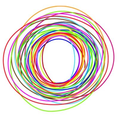 Company Logo with Multicolor Circle