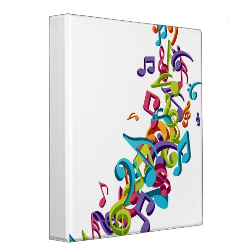 12 Cool Colorful Music Note Designs Images - Colorful ...