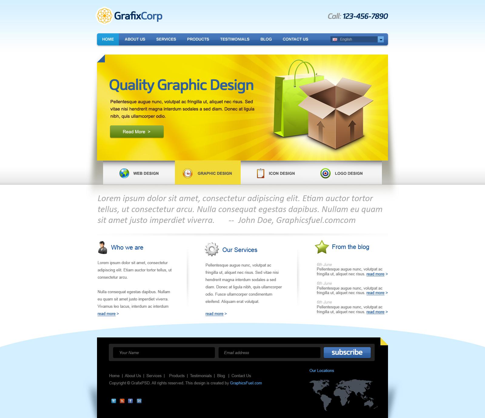 Corporate Website Template Free