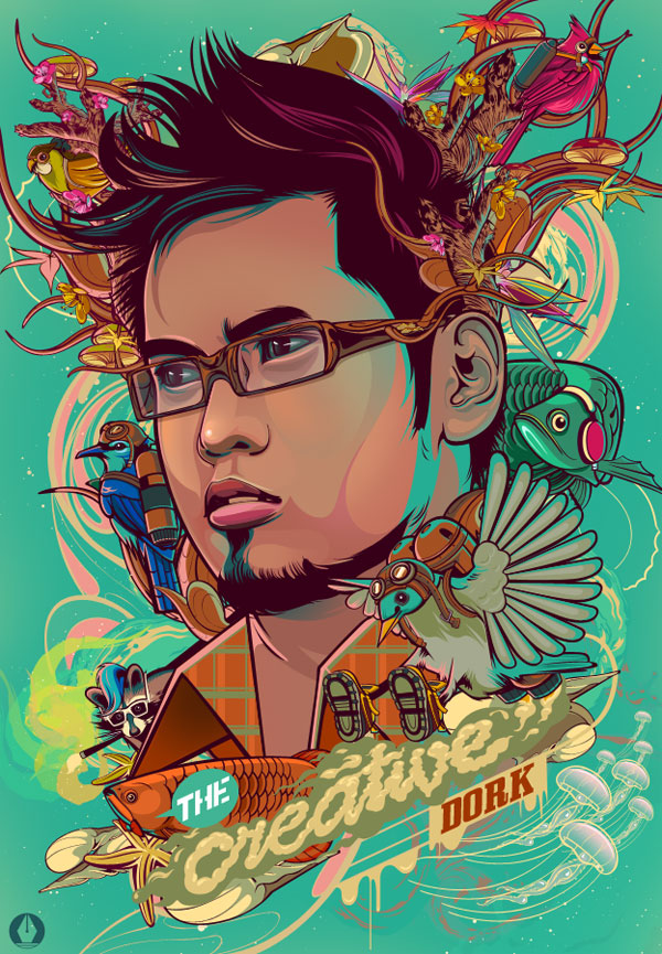 6 Vector Creative Watercolor Portraits Images