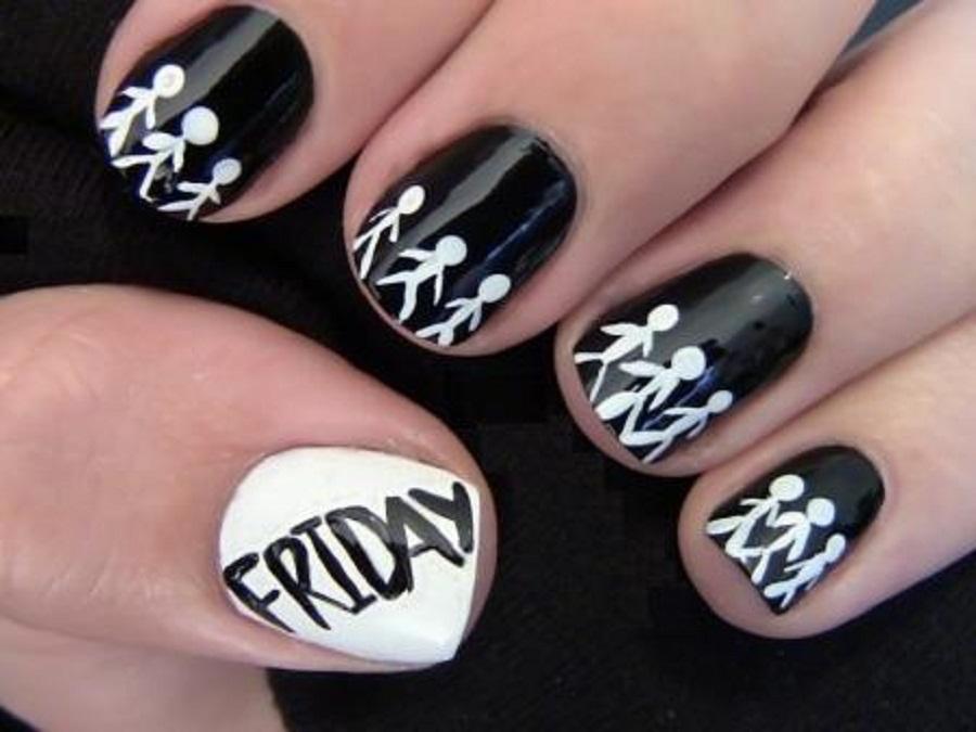 Cute Black Nail Polish Designs