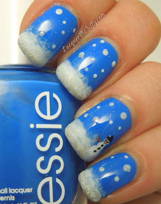 Easy Winter Nail Art Designs