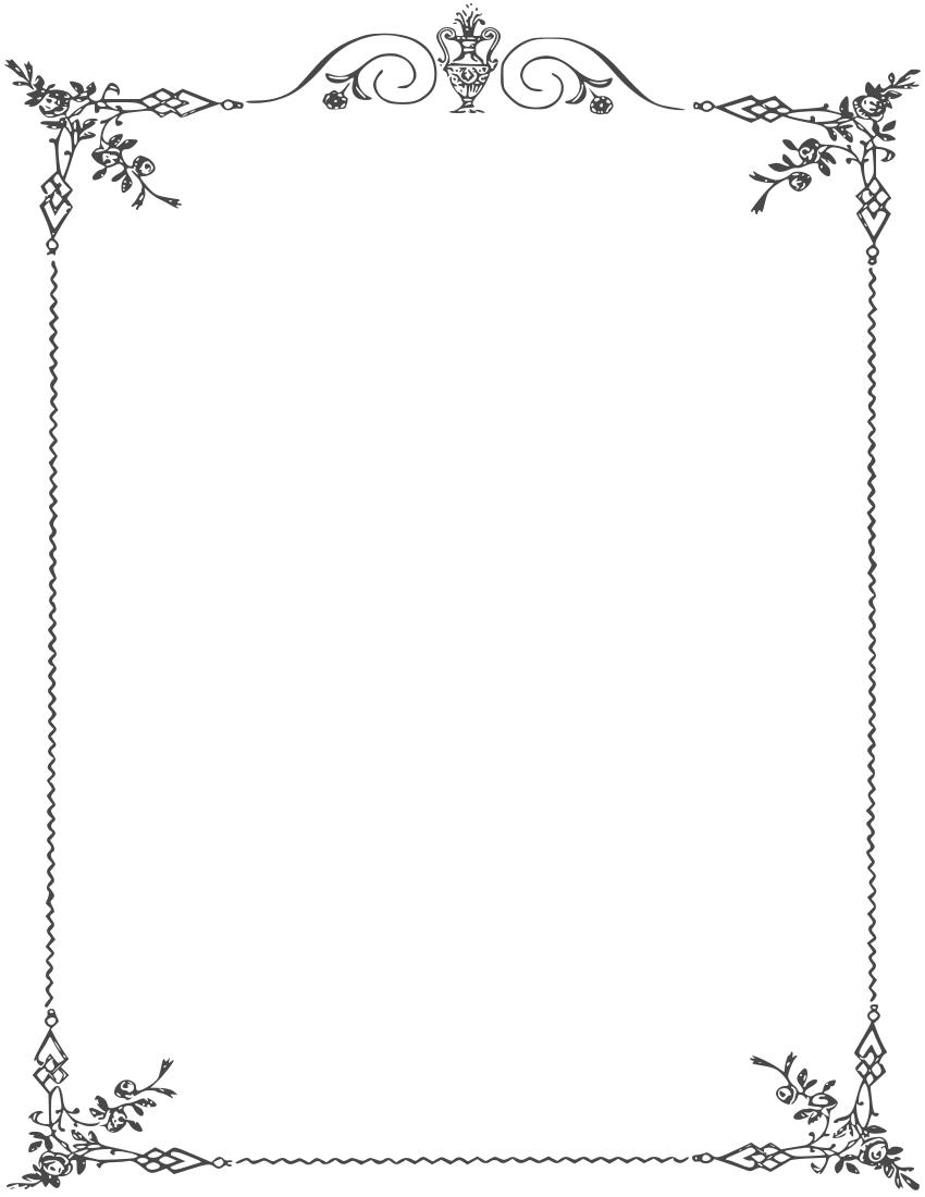 14 religious elegant page border designs images fancy