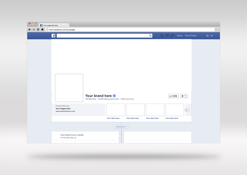 facebook page template free