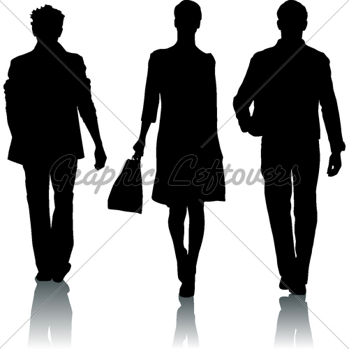 Fashion Show Clip Art Silhouette